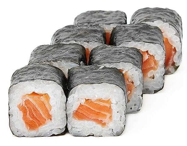 Хосомакі з свіжим лососем